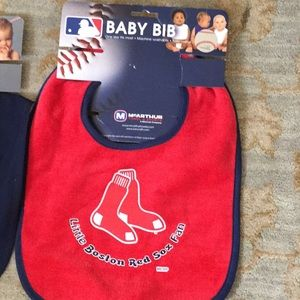 Red Sox And Patriots Baby Bibs Feeding
